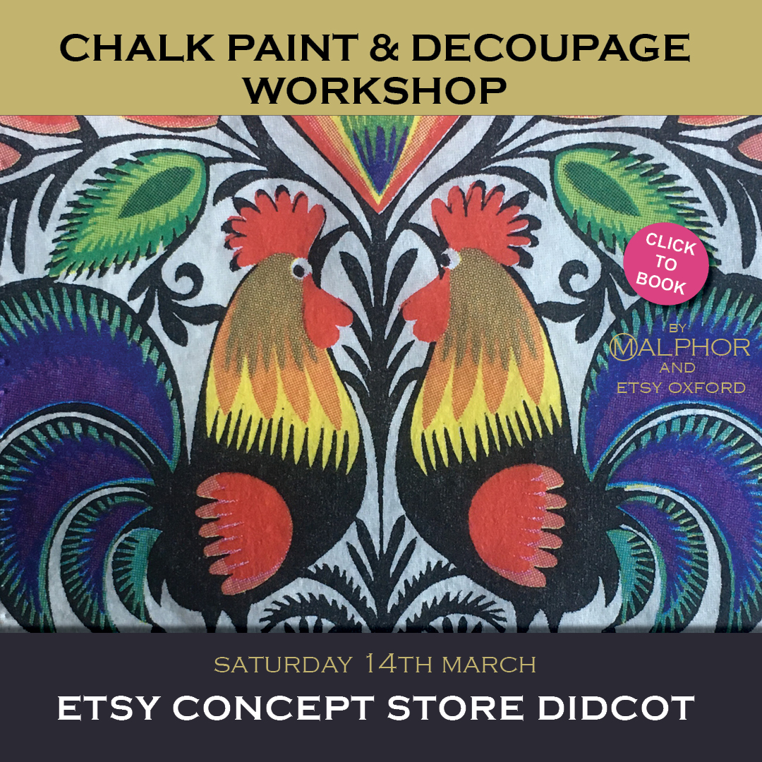 Chalk paint and decoupage workshop Oxford
